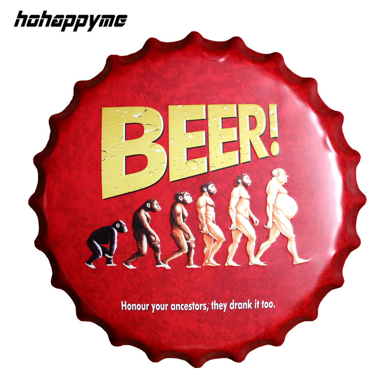 Beer Bottle Cap Metal Plate Plaque Sign Gemdrip