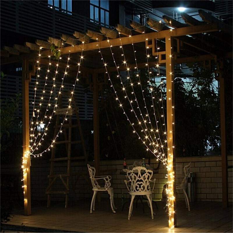 Warm white 3m x 3m 300 led outdoor string lights gemdrip warm white 3m x 3m 300 led outdoor string lights workwithnaturefo